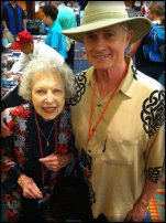 Christoper Riordan with long-time and good friend, Carla Laemmle at Hollywood Show - 2011.