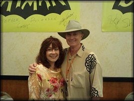 Sherry Jackson with Christopher Riordan at Hollywood Show - October, 2011.