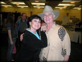 Christoper Riordan with long-time friend, Yvonne Craig, at Hollywood Show - 2011.