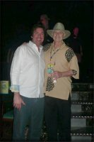 Christopher Riordan with Jay, a fan, on the Elvis Cruise - January, 2012.
