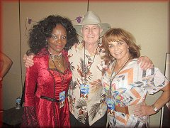 Christopher with Marcia McBroom and Dolly Reed from Beyond the Valley of the Dolls at autogrph show in 2015