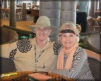 Christopher Riordan with close friend, Marlyn Mason, on the Elvis Cruise - January, 2012.