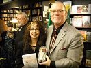 Evelyn Rudie with author, Sam Irvin, at book signing for his biography,